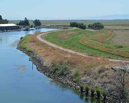 image - levee in the Sacramento-San Joaquin River Delta region
