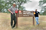 Black Butte Lake Senior Ranger Bill Miller (left) and Rick Leis, president of the Orland ACES Disc Golf Club, both praise the partnership that has produced the beautiful 18-hole disc golf course at the U.S. Army Corps of Engineers Sacramento District park near Orland, Calif., May 7, 2013. Photo cropped for emphasis. (Army photo by Robert Kidd/Released)