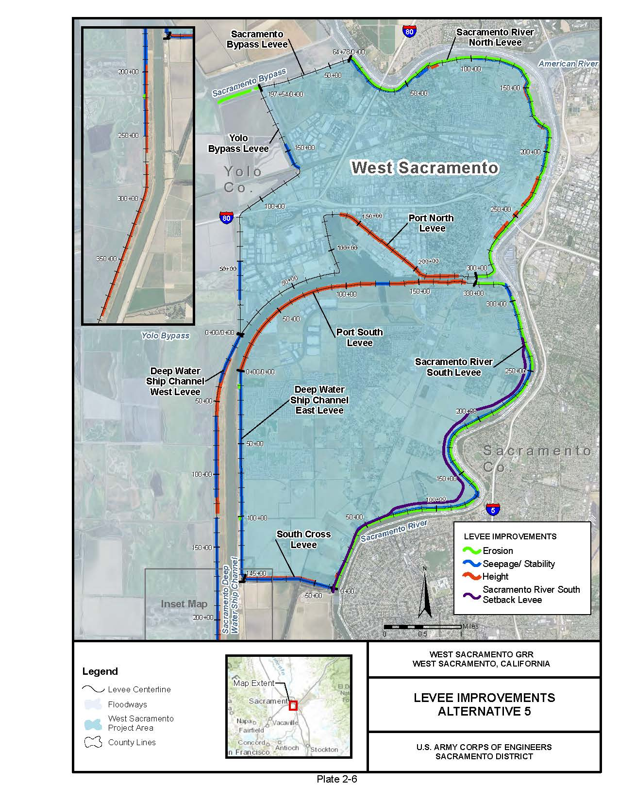 west sac study area map