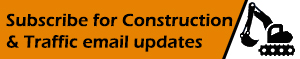 Button to subscribe for construction & traffic email updates