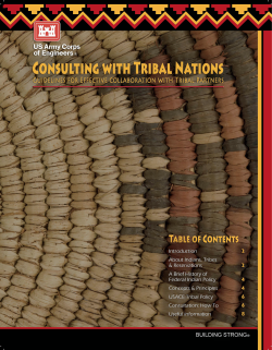 image - consulting with tribal nations brochure