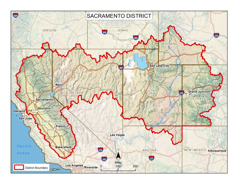 About The Sacramento District - Us corps of engineers maps