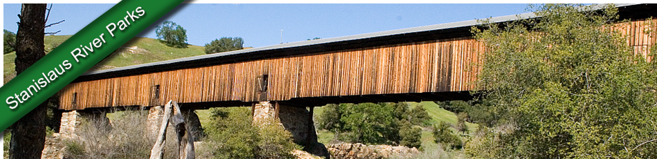 image - historic covered bridge at Knights Ferry